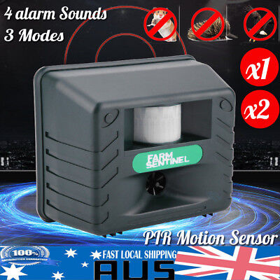 Ultrasonic Rat &Bird & Animal Repeller Electronic Sounds 6in1 Pest Repellent PIR