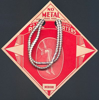Early Deco Garter Display Card with Two Roll Garters Attached