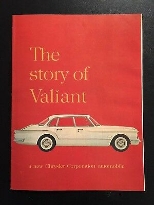 "1960 Introduction Sales Brochure of the Chrysler "" The Story Of The Valiant"""