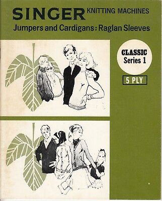 SINGER Knitting Machine Pattern Book CLASSIC SERIES 1 JUMPERS & Cardigans
