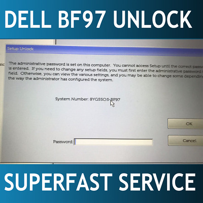 BF97 UNLOCK BIOS password Dell XPS 15 9575,15 9570,Latitude 5491