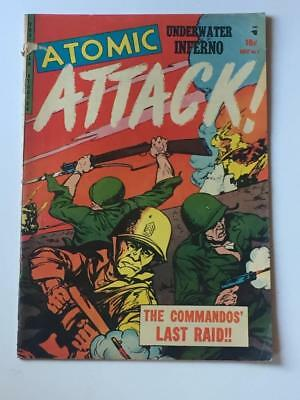 Atomic Attack #7 VG- 1953 Golden Age Pre-code War Youthful magazines