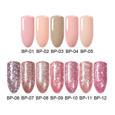 BORN PRETTY 5ml Nail Art Soak Off UV Gel Polish Rose Gold Glitter Shiny Varnish