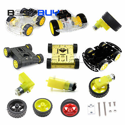 Smart Car Tracking Motor Smart Robot Car Chassis Kit 2WD/4WD Motor Wheel