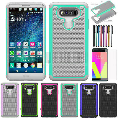 Hybrid Armor Heavy Duty Shockproof Hard Rugged Protective Case Cover For LG V20