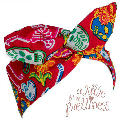 Pin Up 50's Day of the Dead Rockabilly Vintage Wire Headscarf