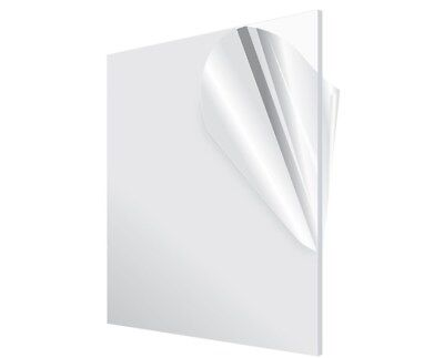 """Acrylic Plexiglass Plastic Sheet 0.125"""" - 1/8"""" Thick - You Pick The Size Clear"""