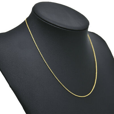 Men Women Real Classic Gold Plated Stainless Steel Chain Necklace 49.8cm NEW HOT