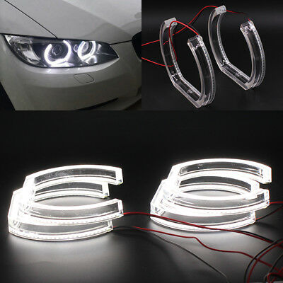 6000K White CRYSTAL LED Angel Eye Halo Ring DRL Kit For 06-11 BMW E90 E92 E93 M3