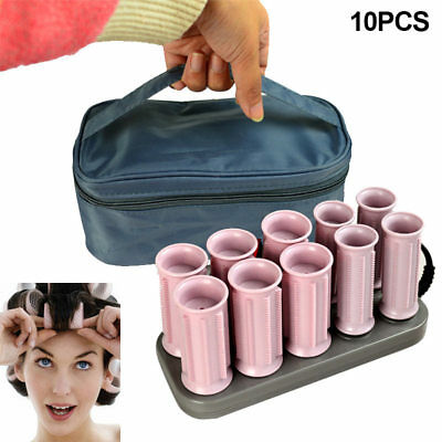 10x Trendy Electric Roll Hair Tube Heated Roller Hair Curly Styling Sticks Tool