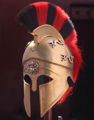 Medieval Royal Greek Corinthian Armour Helmet Knight Spartan Ancient Larp Gift