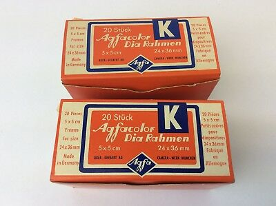 Two Original 20 Stuck Agfacolor Dia Rahmen Made Germany Slide Projector Slides