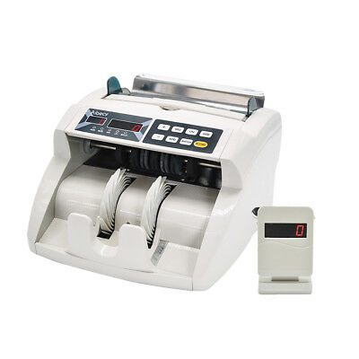 LED Money Bill Currency Counter Counting Machine Counterfeit Detector UV MG Q9B7