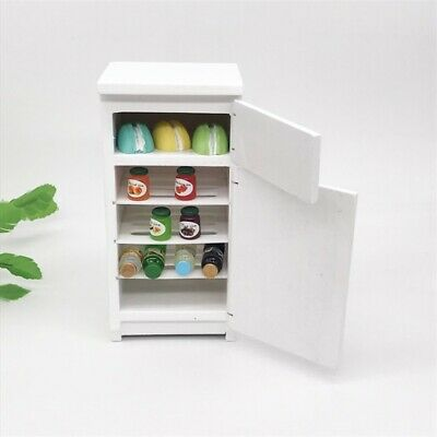 Miniature Kitchen Furniture Fridge Refrigerator Children Toys For 1:12 Dollhouse