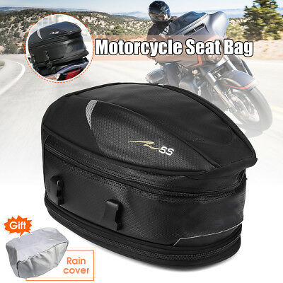 Waterproof Motorcycle Touring Rear Pillion Seat Tail Bag Luggage Expandable Pack