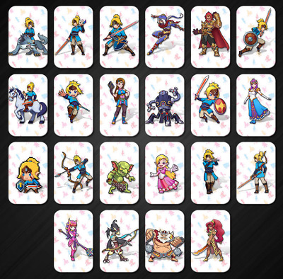 22 Full Set NFC PVC Tag Card ZELDA BREATH OF THE WILD WOLF LINK for Switch Wii U