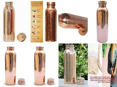 Set of 10 Indian Hammered Traditional Pure Copper Water Bottle for Health 900 ML