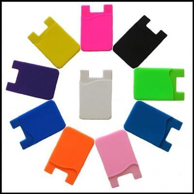 USA~CHOICE:1-4 Cell Phone Credit Card/ Cash Wallets Pouch Silicone Holder 3M Lot