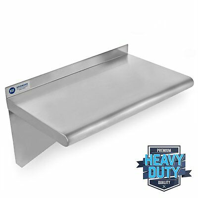"Stainless Steel Commercial Kitchen Wall Shelf Restaurant Shelving - 14"" x 24"" YK"