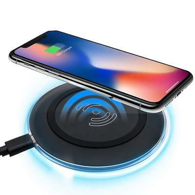 Wireless Charger for iPhone X 8 7 6 5 Phone Charging Pad Dock Device Charger AU1