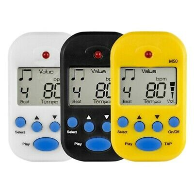 Electric Instrument Metronome Digital LCD On Beat Tempo Guitar Music Timer PMT