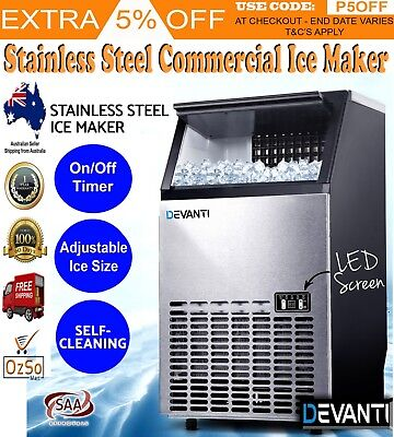 Cafe Function Party Commercial Ice Cube Maker Machine Auto Portable Business New