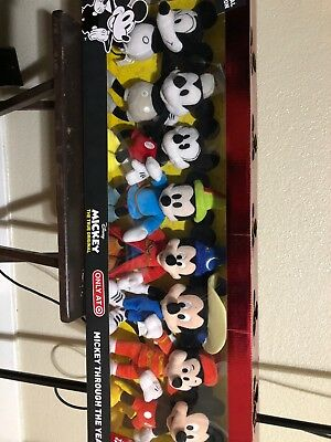 DISNEY MICKEY MOUSE 90th Anniversary THROUGH THE YEARS SET OF 8 PLUSH VERY RARE!