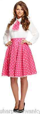 Da Donna Rosa a Pois 1950s Anni 50 Gonna   Cravatta Costume Vestito af86c72551c