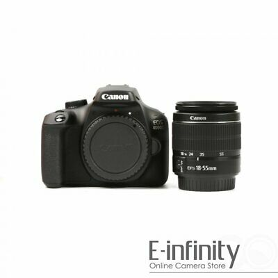 NEW Canon EOS 4000D Digital SLR Camera with EF-S 18-55mm f/3.5-5.6 IS III