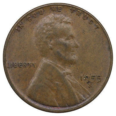 1955 S Lincoln Wheat Cent Extra Fine Penny XF