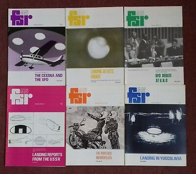 Flying Saucer Review (1978/9) Volume 24 complete set of six publications.