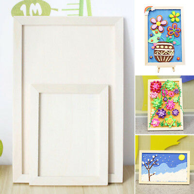 1 X Paintable Handmade Painting Display Box Wall Decoration Wooden Photo Frame