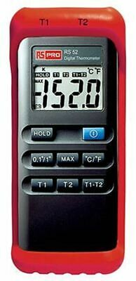 RS PRO Digital Thermometer, 2 Input Handheld, K Type Input With SYS Calibration