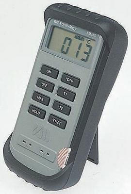 Comark KM340 Digital Thermometer, 2 Input Differential, K Type Input With RS Cal