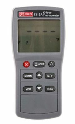 RS PRO 1319A Digital Thermometer, 1 Input Handheld, K Type Input With RS Calibra