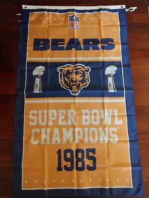 Chicago Bears 3x5 Super Bowl Champions Flag. Free shipping within the US