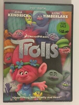 Trolls DVD New Sealed Kendrick Timberlake