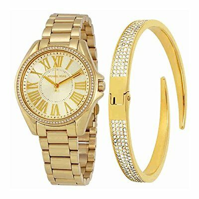 c1e0bef0da8f Michael Kors Women s Kacie Gold-Tone Watch and Bracelet Gift Set MK3568