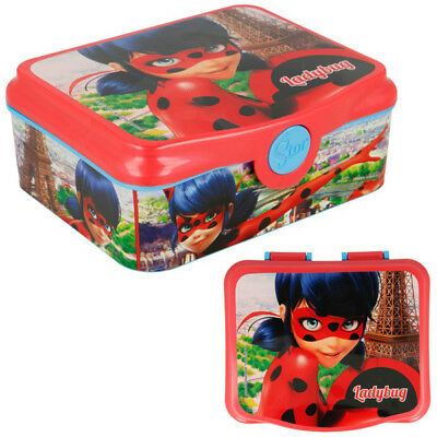 Miraculous LADYBUG - Brotdose - Lunchbox - Sandwichbox - Rot