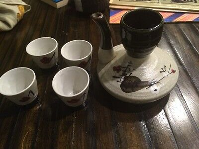 Vintage Japanese Pottery Tea Set