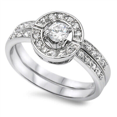 Small 3mm Bezel Set Cubic Zirconia Simple Domed Ring 925 Sterling Silver Womens Sizes 4-10