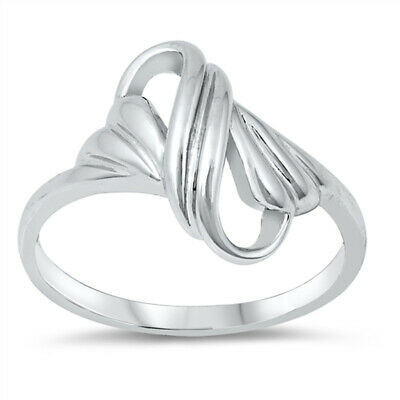 Criss Cross Polished Knot Infinity Ring New .925 Sterling Silver Band Sizes 5-9