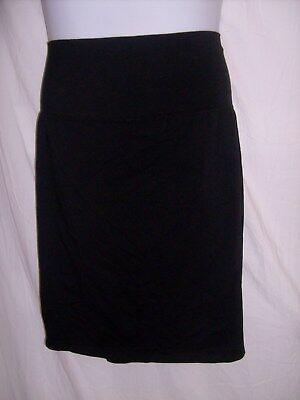 New Additions Maternity Size L Black Stretchy Straight Skirt