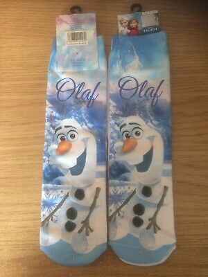 New ~ Girls ~ Disney Frozen ~ Olaf ~ Socks ~ Size 12-2.5
