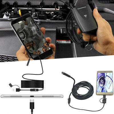 9933 USB Micro USB TYPE-C Endoscope Inspection Camera For Mobile Phone PC 7MM Bl
