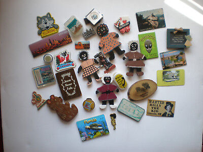 LOT OF 30 REFRIGERATOR MAGNET - Some Vintage - Most souvineer - Some Handcrafted