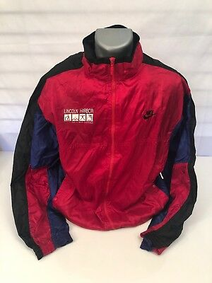 1f87a3255e Vintage Nike Gray Tag Full Zip Windbreaker Track Jacket Men s Xl Red COLOR  BLOCK
