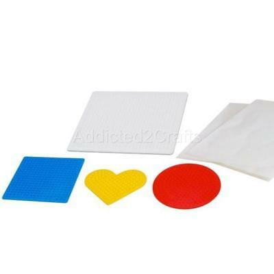 4  Peg Boards Template Heart Round Square Hama Perler Iron-on Beads Art Gifts