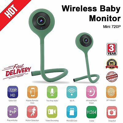 Wireless Wifi Baby Temperature Monitor Detection 2 Way Audio IR Night Camera I8