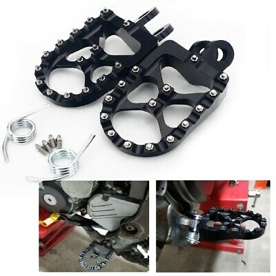 Billet Wide Foot Pegs Pedals for Suzuki RM125 RM250 DRZ400 DRZ400E/S DRZ400SM